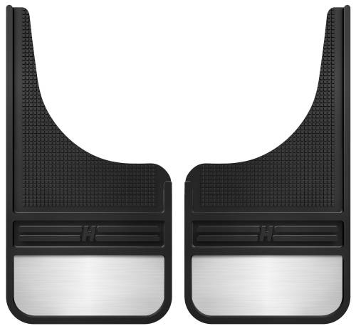 Husky Liners - Husky Liners | Rubber Front Mud Flaps 12 Inch w/ Weight | 55001