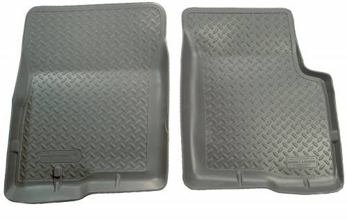 Husky Liners - Husky Liners   Floor Liners Front 97-14 Ford E Series Models Classic Style-Grey   33252