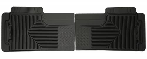 Husky Liners - Husky Liners   Semi Custom Fit Floor Mat 2nd or 3rd Seat Can Overlap Center Hump-Black   52011