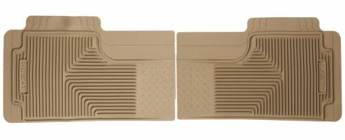Husky Liners - Husky Liners   Semi Custom Fit Floor Mat 2nd or 3rd Seat Can Overlap Center Hump-Tan   52013