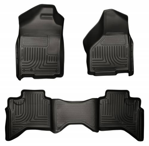 Husky Liners - Husky Liners   Floor Liners Front & 2nd Row 02-09 Doge Ram Quad Cab (Footwell Coverage) WeatherBeater-Black   98031