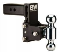 "PART TYPE - Hitches & Recovery Hooks - B&W Hitches - B&W | Tow & Stow Tri Ball Adjustable Ball Mount | 5"" Drop"