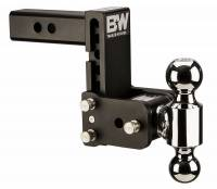 "PART TYPE - Hitches & Recovery Hooks - B&W Hitches - B&W | Tow And Stow Dual Ball 2 Adj Ball Mount | 5"" Drop"