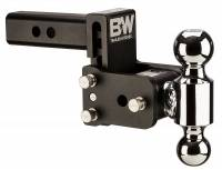 "PART TYPE - Hitches & Recovery Hooks - B&W Hitches - B&W | Tow And Stow Dual Ball 2 Adj Ball Mount | 3"" Drop"