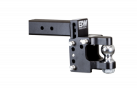 PART TYPE - Hitches & Recovery Hooks - B&W Hitches - B&W | Tow & Stow Pintle Adjustable Ball Mount | 2-5/16 Ball