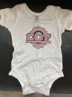 CDT Gear - Baby Clothes - CDT Performance & Off-Road - Onesie White with Pink Logo 12 months