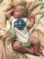 CDT Gear - Baby Clothes - CDT Performance & Off-Road - Onesie White with Blue Logo 6 months