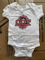 CDT Gear - Baby Clothes - CDT Performance & Off-Road - Onesie White with Red Logo 12 months