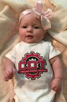 CDT Gear - Baby Clothes - CDT Performance & Off-Road - Onesie White with Red Logo 6 months