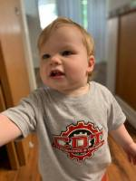 CDT Gear - Toddler Clothes - CDT Performance & Off-Road - Toddler CDT T-Shirt Grey.Red.White