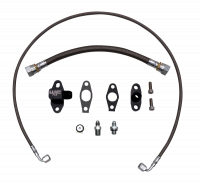Wehrli Custom Fabrication - WC Fab | 2011-2016 LML Duramax S400 Single Turbo Oil Line Kit | WCF100219