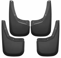 Exterior Accessories - Mud Flaps - Husky Liners - Husky Liners | 07-13 Chevrolet Silverado 1500/2500 HD/3500 HD Front and Rear Mud Guard Set Black | 56796