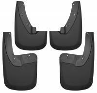 Exterior Accessories - Mud Flaps - Husky Liners - Husky Liners | 09-18 Dodge Ram 1500/2500/3500 Has OE Fender Flares Single Rear Wheels Front and Rear Mud Guard Set Black | 58186