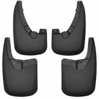 Exterior Accessories - Mud Flaps - Husky Liners - Husky Liners | 09-18 Dodge Ram 1500/2500/3500 Does Not Have Fender Flares Single Rear Wheels Front and Rear Mud Guard Set Black | 58176