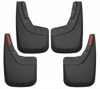 Exterior Accessories - Mud Flaps - Husky Liners - Husky Liners | 14-18 Chevrolet Silverado 1500/2500 HD/3500 HD Front and Rear Mud Guard Set Black | 56886