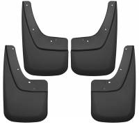 Exterior Accessories - Mud Flaps - Husky Liners - Husky Liners | 14-18 GMC Sierra 1500/2500 HD, 15-18 GMC Sierra 3500 HD Single Rear Wheels Front and Rear Mud Guard Set Black | 56896