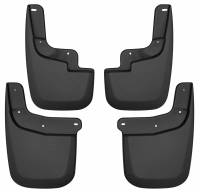 Exterior Accessories - Mud Flaps - Husky Liners - Husky Liners | 15-18 Chevrolet Colorado Front and Rear Mud Guard Set Black | 58236
