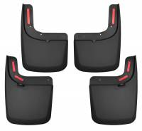 Exterior Accessories - Mud Flaps - Husky Liners - Husky Liners | 17-18 Ford F-250/F-350 Super Duty Single Rear Wheels Vehicle Has OE Fender Flares Front and Rear Mud Guard Set Black | 58476