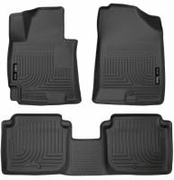 Interior Accessories  - Husky Liners - Husky Liners | 14-16 Hyundai Elantra Sedan Front & 2nd Seat Floor Liners Black | 98941