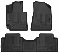 PART TYPE - Interior Accessories  - Husky Liners - Husky Liners | 14-18 Kia Soul Front & 2nd Seat Floor Liners Black | 99611
