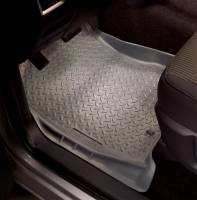 Husky Liners - Husky Liners   Floor Liners Front 02-15 Dodge Ram W/Dual Carpet Hooks Classic Style-Grey   30852 - Image 2
