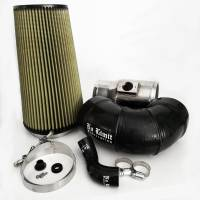 2008-2010 6.4L Powerstroke - Cold Air Intakes - No Limit Fabrication - No Limit Fabrication | 6.4 Cold Air Intake 08-10 Ford Super Duty Power Stroke Polished PG7 Filter for Mod Turbo 5.5 Inch Inlet | 64CAIP5.5
