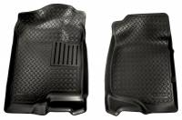 2007.5-2010 6.6L LMM Duramax - Interior Accessories - Husky Liners - Husky Liners | Floor Liners Front 07-13 Escalade/Avalanche/Silverado/Sierra/Tahoe Classic Style-Black | 31411