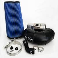 2008-2010 6.4L Powerstroke - Cold Air Intakes - No Limit Fabrication - No Limit Fabrication | 6.4 Cold Air Intake 08-10 Ford Super Duty Power Stroke Polished Oiled Filter for Mod Turbo 5 Inch Inlet | 64CAIO5