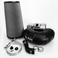2008-2010 6.4L Powerstroke - Cold Air Intakes - No Limit Fabrication - No Limit Fabrication | 6.4 Cold Air Intake 08-10 Ford Super Duty Power Stroke Polished Dry Filter for Mod Turbo 5 Inch Inlet | 64CAID5
