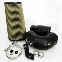 2008-2010 6.4L Powerstroke - Cold Air Intakes - No Limit Fabrication - No Limit Fabrication | 6.4 Cold Air Intake 08-10 Ford Super Duty Power Stroke Black PG7 Filter for Mod Turbo 5 Inch Inlet | 64CAIBP5