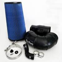 2008-2010 6.4L Powerstroke - Cold Air Intakes - No Limit Fabrication - No Limit Fabrication | 6.4 Cold Air Intake 08-10 Ford Super Duty Power Stroke Black Oiled Filter for Mod Turbo 5 Inch Inlet | 64CAIBO5