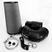 2008-2010 6.4L Powerstroke - Cold Air Intakes - No Limit Fabrication - No Limit Fabrication | 6.4 Cold Air Intake 08-10 Ford Super Duty Power Stroke Black Dry Filter for Mod Turbo 5 Inch Inlet | 64CAIBD5