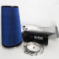 No Limit Fabrication | 6.0 Cold Air Intake 03-07 Ford Super Duty Power Stroke Raw Oiled Filter | 60CAIRO
