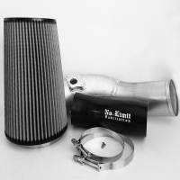 No Limit Fabrication | 6.0 Cold Air Intake 03-07 Ford Super Duty Power Stroke Raw Dry Filter | 60CAIRD