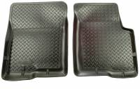 1990-1993 7.3L Powerstroke - Interior Accessories - Husky Liners - Husky Liners | Floor Liners Front 80-97 Ford Bronco/F Series Classic Style-Black | 33001