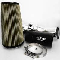 No Limit Fabrication | 6.0 Cold Air Intake 03-07 Ford Super Duty Power Stroke Polished PG7 Filter | 60CAIPP