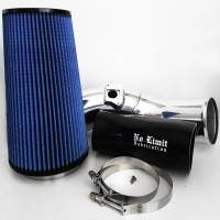 No Limit Fabrication | 6.0 Cold Air Intake 03-07 Ford Super Duty Power Stroke Polished Oiled Filter | 60CAIPO