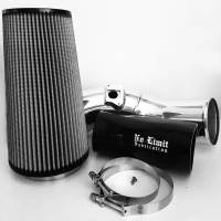 No Limit Fabrication | 6.0 Cold Air Intake 03-07 Ford Super Duty Power Stroke Polished Dry Filter | 60CAIPD