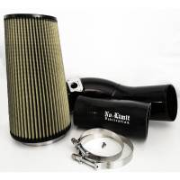 No Limit Fabrication | 6.0 Cold Air Intake 03-07 Ford Super Duty Power Stroke Black PG7 Filter | 60CAIBP