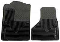 2008-2010 6.4L Powerstroke - Interior Accessories - Husky Liners - Husky Liners | Heavy Duty Front Floor Mats 08-09 Ford F-Series Super Duty-Black | 51201