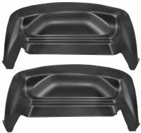 2007.5-2010 6.6L LMM Duramax - Exterior Accessories - Husky Liners - Husky Liners | Wheel Well Guards Rear 07-14 Silverado/Sierra Not Dually-Black | 79001