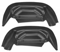 2011-2016 6.6L LML Duramax - Exterior Accessories - Husky Liners - Husky Liners | Wheel Well Guards Rear 14-15 Silverado-Black | 79011