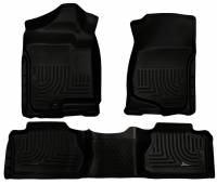 2011-2016 6.6L LML Duramax - Interior Accessories - Husky Liners - Husky Liners | Floor Liners Front & 2nd Row 07-14 Escalade/Avalanche/Suburban/Yukon (Footwell Coverage) WeatherBeater-Black | 98261