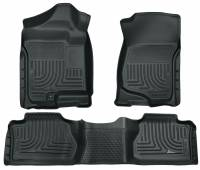 2011-2016 6.6L LML Duramax - Interior Accessories - Husky Liners - Husky Liners | Floor Liners Front & 2nd Row 07-14 Escalade/Avalanche/Suburban/Yukon (Footwell Coverage) WeatherBeater-Grey | 98262