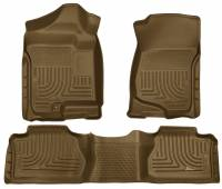 2011-2016 6.6L LML Duramax - Interior Accessories - Husky Liners - Husky Liners | Floor Liners Front & 2nd Row 07-14 Escalade/Avalanche/Suburban/Yukon (Footwell Coverage) WeatherBeater-Tan | 98263