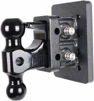 "PART TYPE - Hitches & Recovery Hooks - Gen-Y Hitch - Gen-Y | Mega-Duty Bolt-On Adjustable Hitch 2"" Receiver (with Versa-Ball Mount & Pintle Lock) & 2 1/2"" Drop 