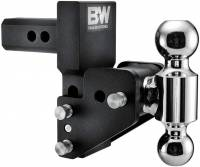 "PART TYPE - Hitches & Recovery Hooks - B&W Hitches - B&W | Tow & Stow - Fits 2"" Receiver, Dual Ball (2"" x 2-5/16"") 