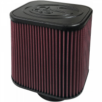S&B   Air Filter For Intake Kits 75-1532, 75-1525 Oiled Cotton Cleanable Red    KF-1000
